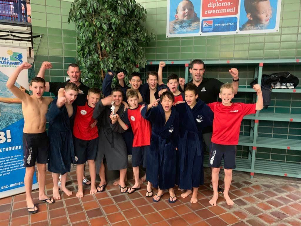 Winnaars in de klasse o15 van het ENC Oliebollentoernooi: GZC Donk